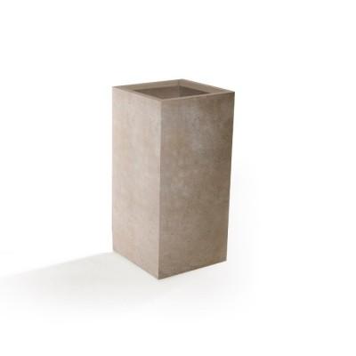 Vaso in Argilla mista Fibra di Vetro ROQUEBRUNE, colore BEIGE, misura XL