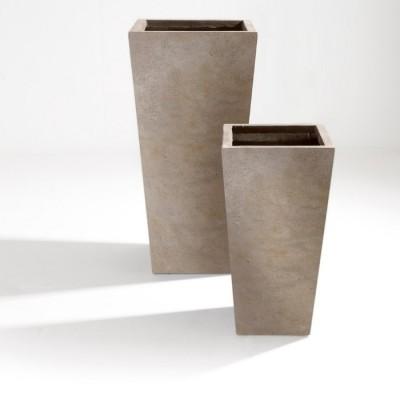 Set di 2 Vasi in Argilla mista Fibra di Vetro RAPHAEL, colore BEIGE