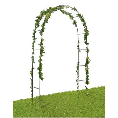 Arco di Trionfo Decorativo da Giardino in Ferro, 38x140x240h cm