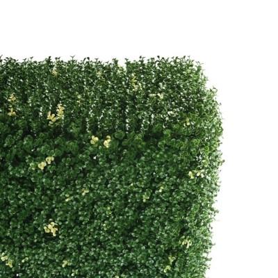 Siepe Decorativa SEMPREVERDE con Foglie tipo Buxus in PVC Fissate, 100x100 cm