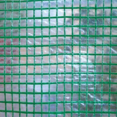 Telo Occhiellato Retinato, 150 grammi, colore OPACO con retinatura VERDE, 3x4 metri